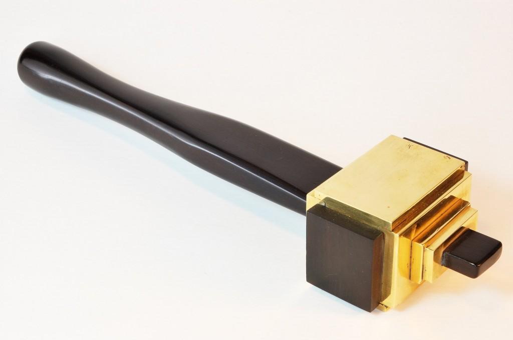 Brass headed mallet