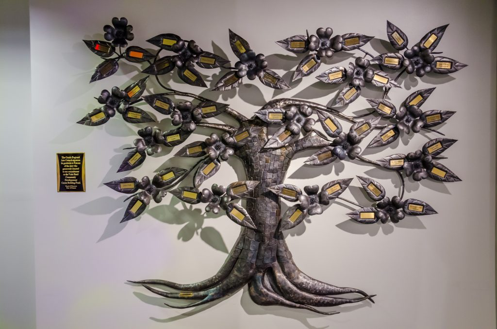 Ozarks Regional Arts Council Donor Tree, by Jim Davis.